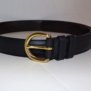 Coach Black Leather Ladies Belt